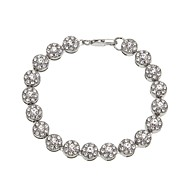 Men's Women's Chain Bracelet Bracelet Rhinestone Classic Vintage Fashion Hiphop Cool Alloy Circle Geometric Jewelry For Daily Bar