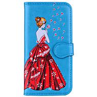 Недорогие Чехлы и кейсы для Galaxy S-Кейс для Назначение SSamsung Galaxy S8 Plus S8 Кошелек Флип Магнитный С узором Рельефный Чехол Соблазнительная девушка одуванчик Твердый