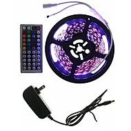 halpa -hkv® 5m rgb led-nauha 3528smd ei vedenkestävä nauhatulppa 44keys ir -ohjaimella diode led-nauha valot nauha merkkijono