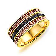 Men's Band Rings Resin Fashion Korean Titanium Steel Geometric Jewelry For Daily Street