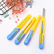 abordables Corte y medición-1 pc plástico estudiante arte cuchillo cortador de papel herramientas de corte de suministro de oficina