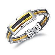 Men's Chain Bracelet Casual Cool Titanium Steel Geometric Jewelry For Daily Formal