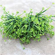 34cm 4 pcs 42 cabeça / ramo flor verde / grama casa decoração grama artificial