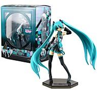 Χαμηλού Κόστους Μεταμφίεση και στολές-Anime Φιγούρες Εμπνευσμένη από Vocaloid Hatsune Miku PVC 19 CM μοντέλο Παιχνίδια κούκλα παιχνιδιών