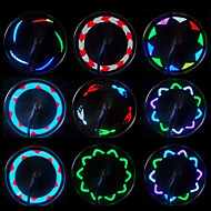 Bike Lights Wheel Lights LED - Cycling Waterproof LED Light Small Size Easy Carrying Wireless Color-Changing AAA 20 Lumens Battery