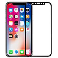 Недорогие Защитные плёнки для экрана iPhone-Защитная плёнка для экрана Apple для iPhone X Закаленное стекло 1 ед. Защитная пленка на всё устройство 3D закругленные углы Антибликовое