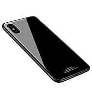 Недорогие Кейсы для iPhone 8-Кейс для Назначение Apple iPhone X iPhone 8 Защита от удара Ультратонкий Кейс на заднюю панель Сплошной цвет Твердый Закаленное стекло для