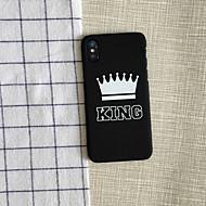 Недорогие Кейсы для iPhone 8-Кейс для Назначение Apple / iPhone X iPhone X / iPhone 8 / iPhone 8 Plus Защита от удара Чехол Композиция с логотипом Apple Мягкий ПК для iPhone X / iPhone 8 Pluss / iPhone 8