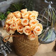 abordables Flores Artificiales-Flores Artificiales 1 Rama Europeo Rosas Flor de Mesa