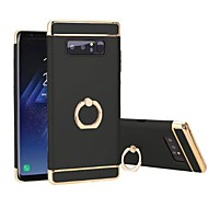 Недорогие Чехлы и кейсы для Galaxy Note-Кейс для Назначение SSamsung Galaxy Note 8 Защита от удара Покрытие Кольца-держатели Поворот на 360° Кейс на заднюю панель Сплошной цвет