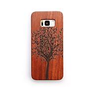 Недорогие Чехлы и кейсы для Galaxy S-Кейс для Назначение Защита от удара Кейс на заднюю панель дерево Твердый деревянный для S8 Plus S8