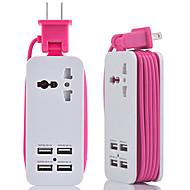 Недорогие Smart Plug-hzn402 зарядное устройство для мобильного телефона многофункциональное зарядное устройство usb 4usb многопортовый разъем для путешествий