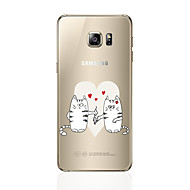 Недорогие Чехлы и кейсы для Galaxy S6 Edge Plus-Кейс для Назначение SSamsung Galaxy S8 Plus S8 С узором Кейс на заднюю панель Кот Мягкий ТПУ для S8 Plus S8 S7 edge S7 S6 edge plus S6