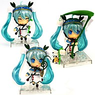 Anime Action Figures Inspired by Vocaloid Snow Miku PVC CM Model Toys Doll Toy