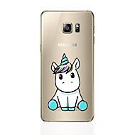 olcso Galaxy S6 Edge Plus tokok-Case Kompatibilitás Samsung Galaxy S8 Plus S8 Minta Hátlap Rajzfilm Puha TPU mert S8 S8 Plus S7 edge S7 S6 edge plus S6 edge S6