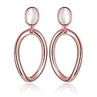 Women's Drop Earrings Hoop Earrings Simple Vintage Casual Lovely Fashion Opal Alloy Geometric Jewelry For Daily Work