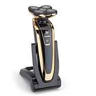abordables Maquinilla Eléctrica-jinding rq-5580 afeitadora a prueba de agua cinco cuchillas máquina de afeitar eléctrica para hombres con base de carga plegable