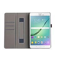 Недорогие Чехлы и кейсы для Galaxy Tab A 9.7-Кейс для Назначение Tab S 10.5 / SSamsung Galaxy / Вкладка S2 9.7 Tab S2 9.7 / Tab A 10.1 (2016) Кошелек / Бумажник для карт / со стендом Чехол Однотонный Твердый Искусственная кожа для Tab 4 10.1