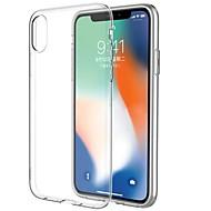 billige -Etui Til Apple iPhone X iPhone X Ultratynn Gjennomsiktig Bakdeksel Gjennomsiktig Myk TPU til iPhone X