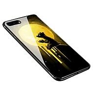 Недорогие Кейсы для iPhone 8-Кейс для Назначение Apple iPhone X iPhone 8 Plus С узором Кейс на заднюю панель Животное Мягкий Закаленное стекло для iPhone X iPhone 8