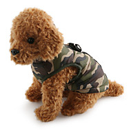 cheap Pet Supplies Accessories-Dog Coat Vest Dog Clothes Camouflage Red Green Blue Pink Camouflage Color Cotton Costume For Pets Men's Women's Casual/Daily