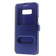 Недорогие Чехлы и кейсы для Galaxy S8-Кейс для Назначение SSamsung Galaxy S8 Plus S8 Кошелек со стендом с окошком Флип Чехол Сплошной цвет Твердый Кожа PU для S8 Plus S8 S7
