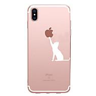 Недорогие Кейсы для iPhone 8 Plus-Кейс для Назначение Apple iPhone X / iPhone 8 / iPhone 7 С узором Кейс на заднюю панель Композиция с логотипом Apple Мягкий ТПУ для iPhone X / iPhone 8 Pluss / iPhone 8