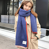 Feminino Roupa de Malha Outono Inverno Retângular,Color Block
