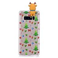 Кейс для Назначение SSamsung Galaxy Note 8 Защита от удара Задняя крышка 3D в мультяшном стиле Рождество Мягкий TPU для Note 8
