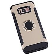 Недорогие Чехлы и кейсы для Galaxy S8-Кейс для Назначение SSamsung Galaxy S8 Plus S8 Защита от удара Кольца-держатели Кейс на заднюю панель Сплошной цвет броня Твердый ПК для