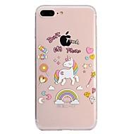 Недорогие Кейсы для iPhone 8 Plus-Кейс для Назначение Apple iPhone X / iPhone 8 Plus С узором Кейс на заднюю панель единорогом Мягкий ТПУ для iPhone X / iPhone 8 Pluss / iPhone 8