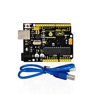 halpa Arduino-tarvikkeet-1pcs keystudio yksi r3-levy (alkuperäinen siru) 1kpl USB-kaapeli yhteensopiva arduino uno r3