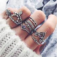 baratos Anéis-Mulheres Anéis para Falanges - Liga Vintage, Fashion Tamanho Único Prata Para Festa / Diário