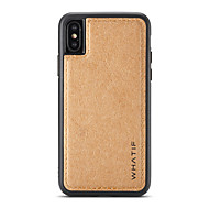 Недорогие Кейсы для iPhone 8 Plus-Кейс для Назначение Apple iPhone X iPhone 8 Своими руками Кейс на заднюю панель Сплошной цвет Твердый деревянный для iPhone X iPhone 8