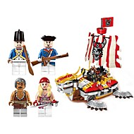 cheap Toys & Hobbies-ENLIGHTEN Building Blocks Boat Toys Ship Movie Character Nautical People Pirates Non Toxic Pirate Children's Adults' Boys' 464 Pieces