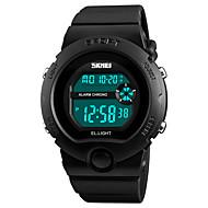 billige Sportsure-Dame Sportsur Armbåndsur Digital Watch Japansk Digital Alarm Kalender Kronograf Vandafvisende Stopur PU Bånd Afslappet Sort