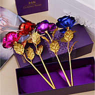 abordables Flores Artificiales-Flores Artificiales 1 Rama Modern Rosas Flor de Mesa