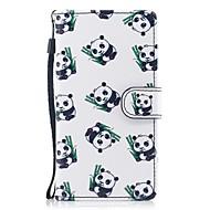 Funda Para Samsung Galaxy J5 (2017) J3 (2017) Cartera Soporte de Coche con Soporte Flip Diseños Cuerpo Entero Oso Panda Dura Cuero