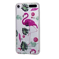 preiswerte iPod-Hüllen / Cover-Fall für Apple iPod Touch5 / 6 Fall Abdeckung hohe durchdringende Pulver IMD Flamingo weichen TPU Telefon Fall
