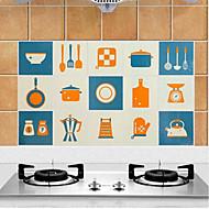 Alta calidad Cocina Calcomanías a Prueba de Aceite,Aluminio 45*75