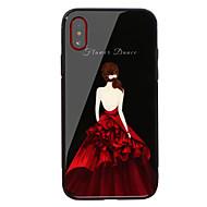 Недорогие Кейсы для iPhone 8-Кейс для Назначение Apple iPhone X iPhone 8 Защита от удара С узором Кейс на заднюю панель Слова / выражения Соблазнительная девушка