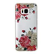halpa Uudet tuotteet-Etui Käyttötarkoitus Samsung Galaxy S8 Plus S8 IMD Kuvio Takakuori Kukka Kimmeltävä Pehmeä TPU varten S8 Plus S8 S7 edge S7