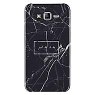 Недорогие Чехлы и кейсы для Galaxy J7-Кейс для Назначение SSamsung Galaxy J7 (2017) С узором Кейс на заднюю панель Слова / выражения Мрамор Мягкий ТПУ для J7 (2017) J7 (2016)
