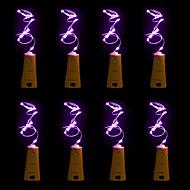 halpa LED-hehkulamput-8 kpl brelong 15 led-viinipullo kupari kupari joulua hääjuhlien koristeet