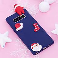 Недорогие Чехлы и кейсы для Galaxy Note 8-Кейс для Назначение Note 8 Матовое Своими руками Задняя крышка 3D в мультяшном стиле Рождество Мягкий TPU для Note 8