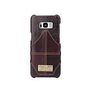 Недорогие Чехлы и кейсы для Galaxy S8-Кейс для Назначение SSamsung Galaxy S8 Plus S8 Бумажник для карт Задняя крышка Сплошной цвет Твердый Натуральная кожа для S8 Plus S8