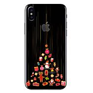 Недорогие Модные популярные товары-Кейс для Назначение Apple iPhone X / iPhone 8 Прозрачный / С узором Кейс на заднюю панель Рождество Мягкий ТПУ для iPhone X / iPhone 8 Pluss / iPhone 8