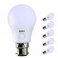 お買い得  LED ボール型電球-GMY® 6本 7W 560/600lm B22 LEDボール型電球 A60(A19) 7 LEDビーズ SMD LEDライト 温白色 クールホワイト 220-240V