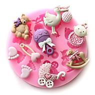 お買い得  キッチン用小物-ベビーパーティーシリコーンケーキ型乳児用チョコレート石鹸工芸品金型DIYベーキングツール