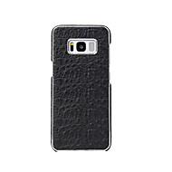 Недорогие Чехлы и кейсы для Galaxy S-Кейс для Назначение SSamsung Galaxy S8 Plus S8 Покрытие Кейс на заднюю панель Сплошной цвет Твердый Настоящая кожа для S8 Plus S8